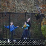 Trampoline reduced size