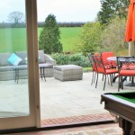 Annex pool table and garden furniture